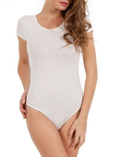 Miorre Kısakol Çıtçıtlı Body Beyaz